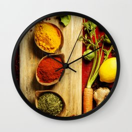 Herbs and spices Wall Clock