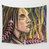 phoenix Wall Tapestries featuring phoenix by Beth Jorgensen