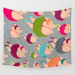 Synchronised Spotty Swimmers Wall Tapestry