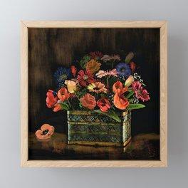 Spring Basket of Color Framed Mini Art Print