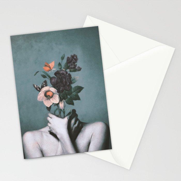 inner garden 3 Stationery Cards