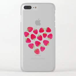 STRAWBERRIES AND CHOCOLATE Clear iPhone Case