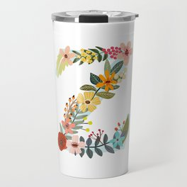 Monogram Letter Z Travel Mug