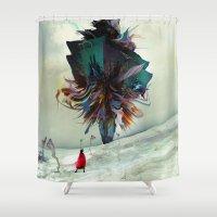 archan nair Shower Curtains featuring Soh:adoe by Archan Nair