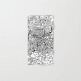 Houston White Map Hand & Bath Towel
