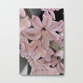 Hyacinth Charcoal Metal Print