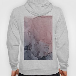 Blush and Gray Flowing Ombre Abstract 1 Hoody
