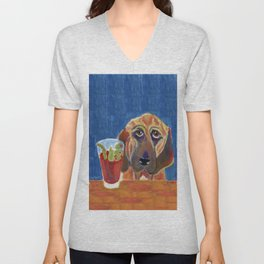 Hair of the Dog, an Animal Spirits painting  Unisex V-Neck
