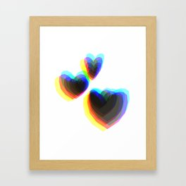 Heart CYMK Framed Art Print