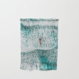 Girl Surfing Wall Hanging