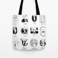 astrology Tote Bags featuring Natural Astrology by Coily and Cute