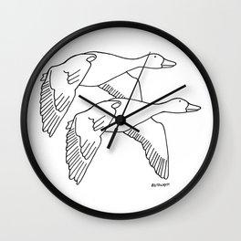Geese in Flight #2 Wall Clock
