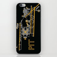 steelers iPhone & iPod Skins featuring Pittsburgh (PIT) - Team Colors by Kyle Rodgers