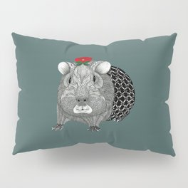 Ms Guinea Pig is dressed up and ready to go party Pillow Sham