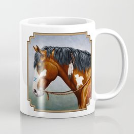 Bay Pinto Native American War Horse Coffee Mug