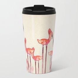 Transmogrified Flamingo Colony Travel Mug