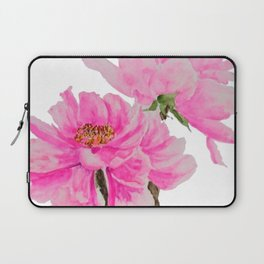 two pink peonies watercolor Laptop Sleeve