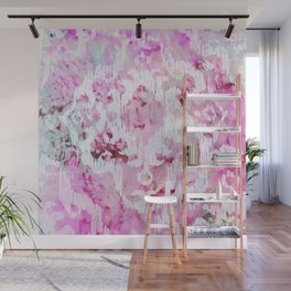 Magenta Ombre Southwest Scrollwork Print Wall Mural