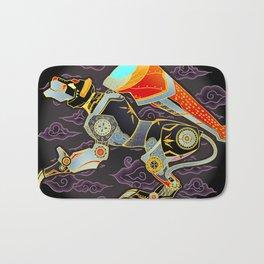 Black Lion Batik Bath Mat