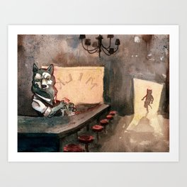 The Royal Ten Dollar Gold Piece Inn and Emporium Art Print
