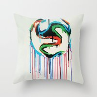 world cup Throw Pillows featuring Bleed World Cup by DesignYourLife