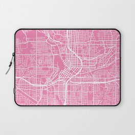 Atlanta map pink Laptop Sleeve