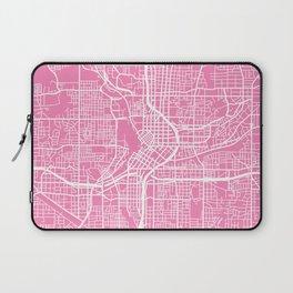 Atlanta map pink Laptop Sleeve