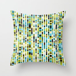 colorful mosaic with squares in rows Throw Pillow
