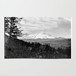 Mount Shasta, and neighboring mountain Shastina, Siskiyou County, ca.1900-1940 Rug