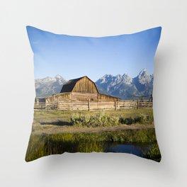 Mormon Row Grand Tetons Throw Pillow