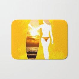 Sunset Surfer Bath Mat