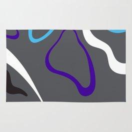 Dark Purple Gray Rug