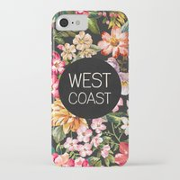 west coast iPhone & iPod Cases featuring West Coast by Text Guy