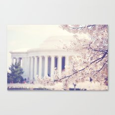 Cherry Blossoms at the Jefferson Memorial Washington DC Canvas Print