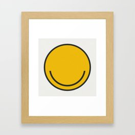 All you need is Smile! Framed Art Print