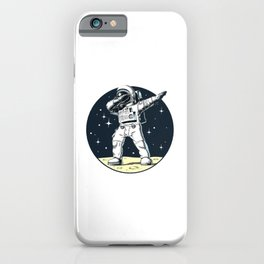 Dabbing Astronaut Funny Space Dance iPhone Case