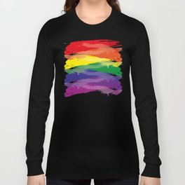 Abstract Rainbow Long Sleeve T-shirt