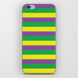 New Orleans Mardi Gras Stripes Purple Green Gold #society6 iPhone Skin