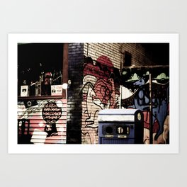 Kangeroo in the city Art Print