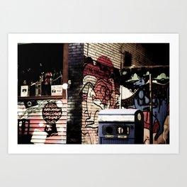 Kangeroo in the city Art Print
