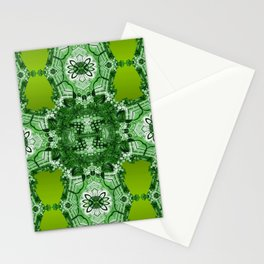 Royal Geometry Green Stationery Cards