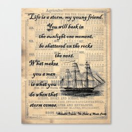 Count of Monte Cristo quote Canvas Print