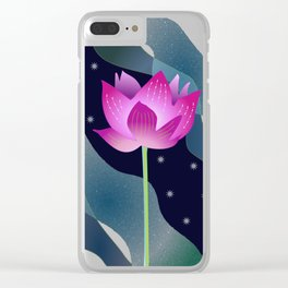 Star Lotus Clear iPhone Case