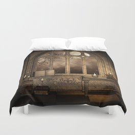 Gothic Library Window Duvet Cover