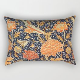 William Morris Cray Floral Art Nouveau Pattern Rectangular Pillow