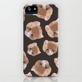 Cat from a geometrical pattern iPhone Case