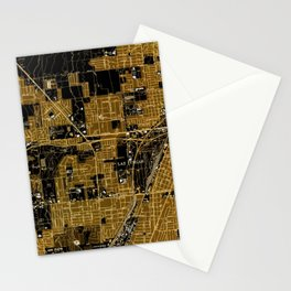 Las Vegas old map year 1967 Stationery Cards