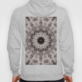 Mandala. Cream and brown. Hoody