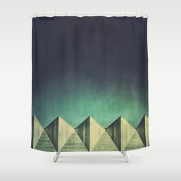 Geometric Skyline Shower Curtain