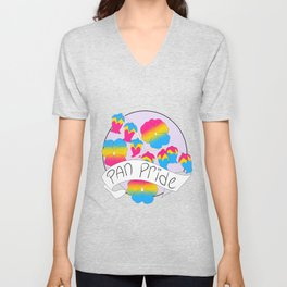 Pan Pride Flowers Unisex V-Neck